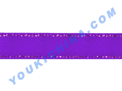 satin ribbon with metallic yarn